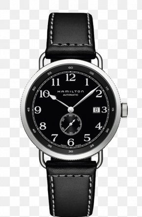 Hamilton Watch Watches Black Men's Watch - Hamilton Watch Company Automatic Watch Strap ETA SA PNG