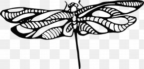 Dragonfly Outline - Tattoo Monarch Butterfly Henna Clip Art PNG
