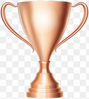 Bronze Trophy Cup Award Transparent Clip Art Image - Trophy Cup Award Silver Clip Art PNG