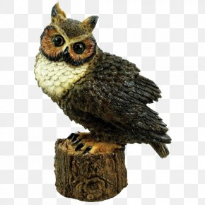 Great Horned Owl - Great Horned Owl Figurine Statue Garden Sculpture PNG