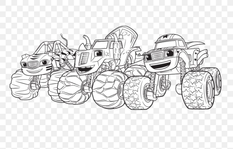 Coloring Book Child Nick Jr Monster Truck Pre School Png 765x524px Coloring Book Artwork Auto Part