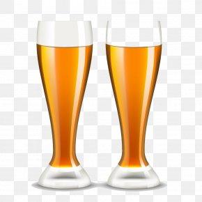 Two Glasses Of Beer - Beer Glassware Draught Beer PNG