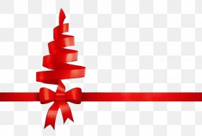 Gift Wrapping Holiday Ornament - Red Ribbon Holiday Ornament Gift Wrapping Clip Art PNG