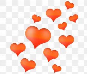 Flying Love - Love Heart Illustration PNG