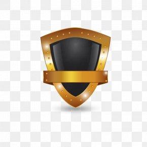 Golden Shield Design Vector Material - Shield Logo Euclidean Vector PNG
