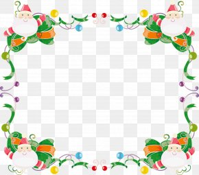Santa Claus - Borders And Frames Santa Claus Clip Art Christmas Day Image PNG