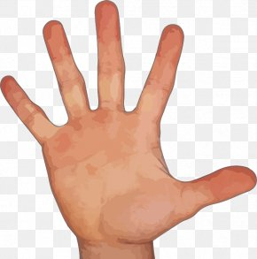 Hand With Five Fingers - Finger Hand Pixel PNG