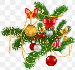 Christmas - Christmas Decoration Christmas Ornament Garland Clip Art PNG