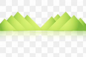Green Mountain Shading Element - Green Mountain Chemical Element Euclidean Vector PNG