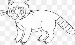 Raccoon Cliparts - Raccoon Whiskers Line Art Clip Art PNG