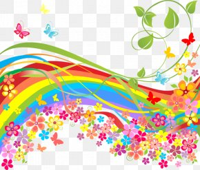 Rainbow - Spring Flower Stock Illustration PNG