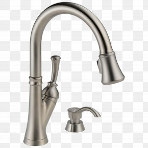 Faucet - Tap Stainless Steel Brushed Metal Kitchen Sink PNG