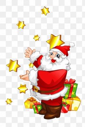 Santa Claus - Santa Claus Christmas Tree Reindeer Illustration PNG