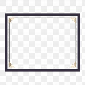 Certificate Border Design - Text Picture Frame Pattern PNG