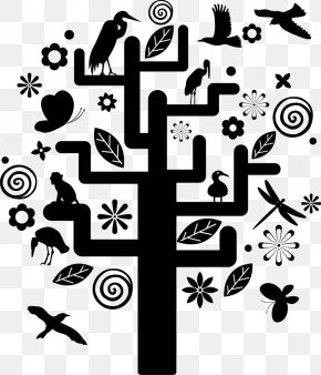 Tree Silhouette - Tree Structure PNG