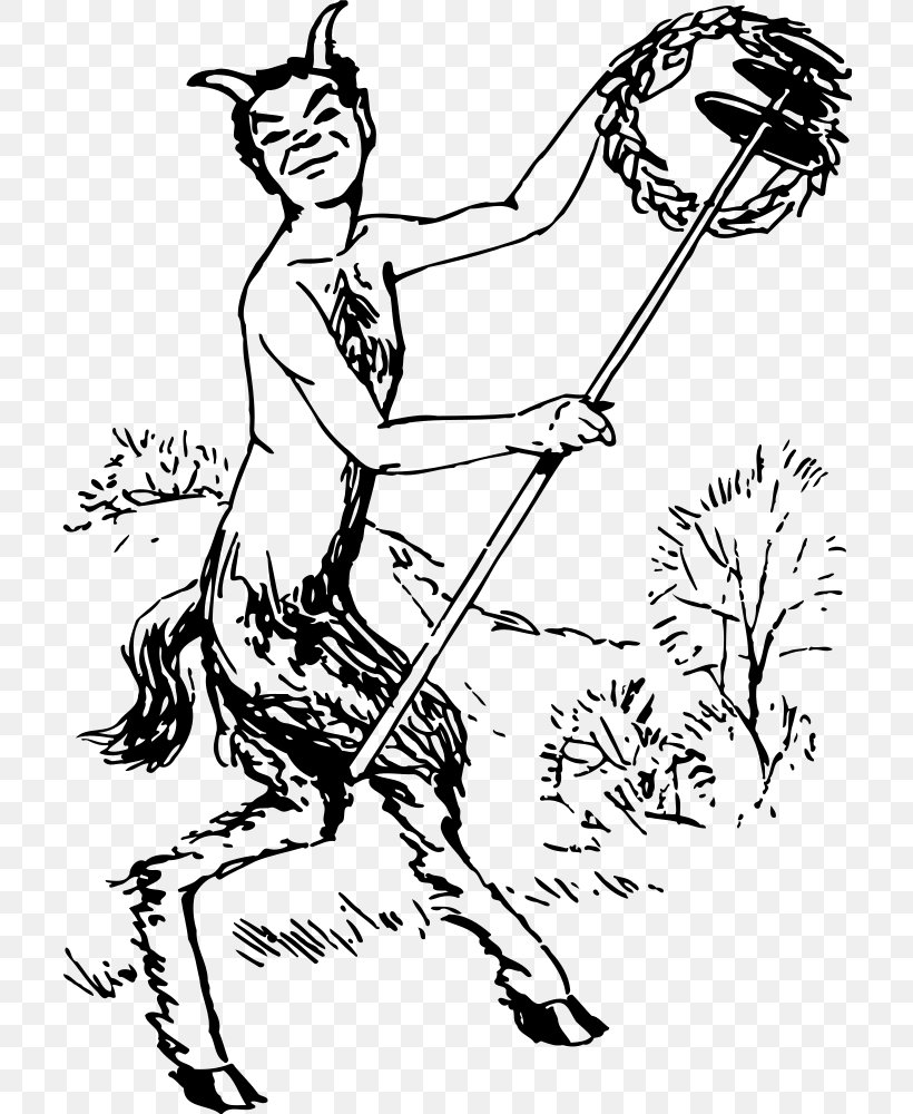 Drawing Satyr Greek Mythology Satire Clip Art Png 711x1000px