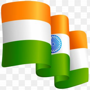 Waving India Flag Transparent Clip Art Image - Flag Of India Clip Art PNG