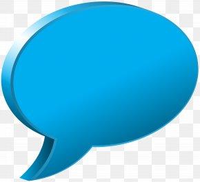 Speech Bubble Blue Transparent Image - Blue Speech Balloon PNG