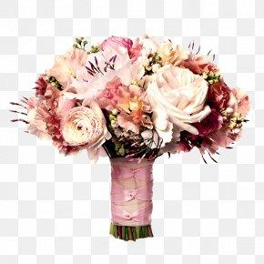 Bride Holding Flowers Pink Flowers - Flower Bouquet Wedding Bride Pink PNG