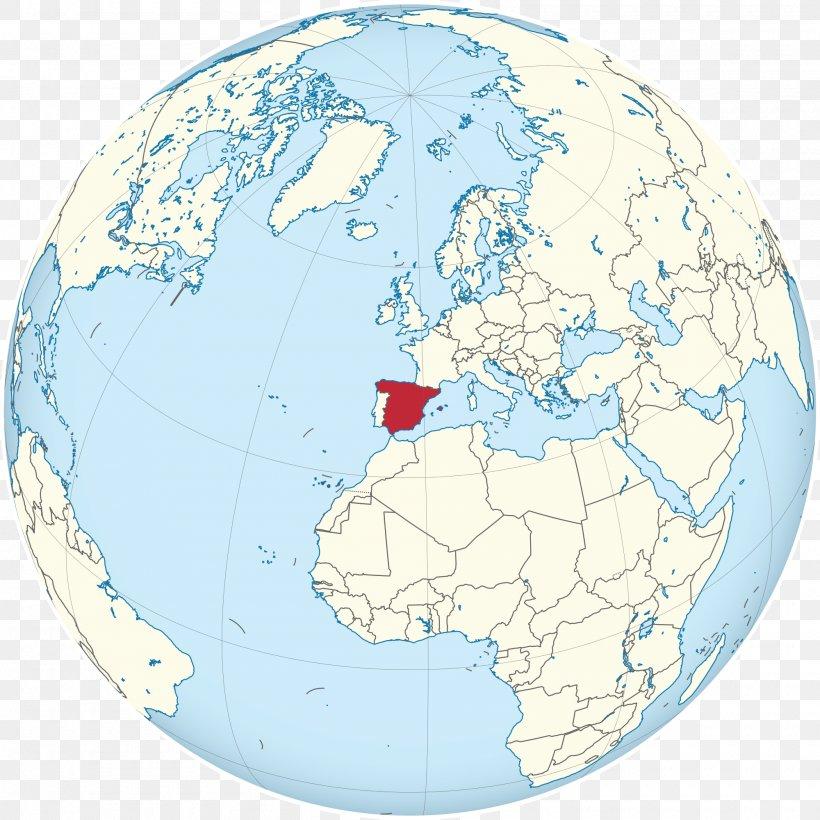 Spain On World Map Globe Spain World Map World Map, PNG, 2000x2000px, Globe