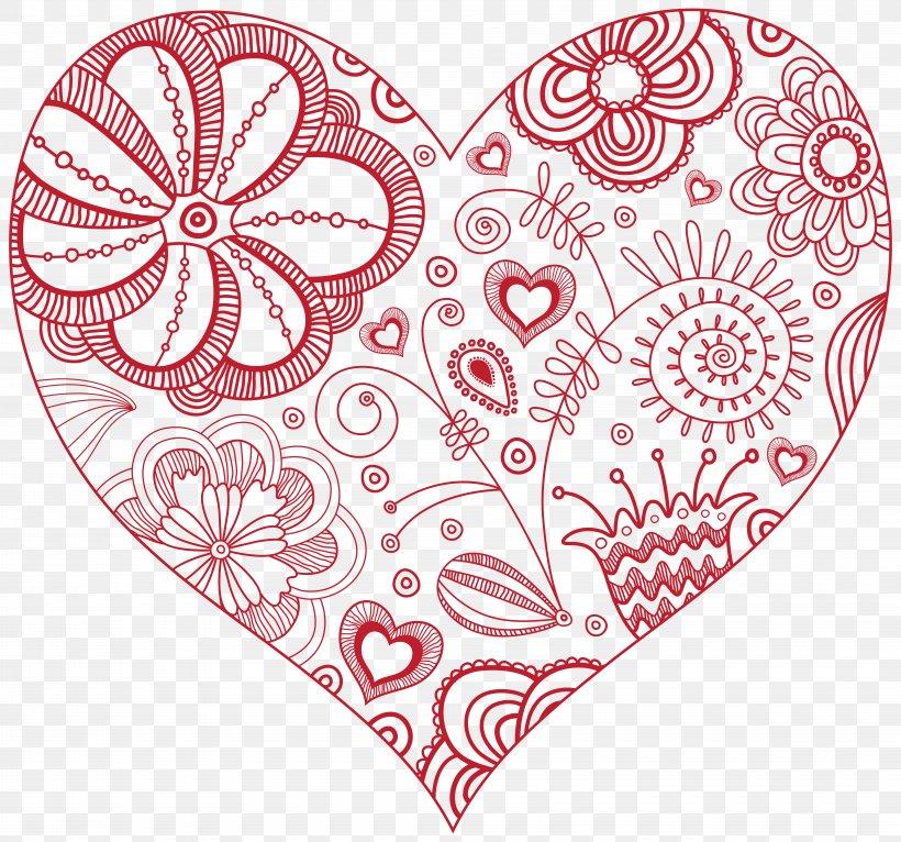 Heart Clip Art, PNG, 8000x7480px, Watercolor, Cartoon, Flower, Frame, Heart Download Free