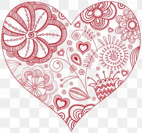 Decorative Red Heart Clip Art Image - Heart Clip Art PNG