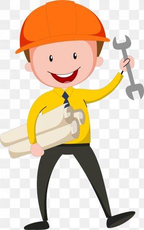 Wearing A Helmet Design Engineer - Civil Engineering Design Engineer PNG