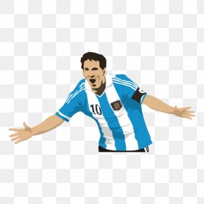 Carton Design - Argentina National Football Team FC Barcelona Football Player Art PNG