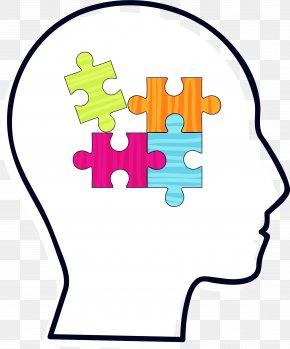 Black Brain Puzzle - Brain Clip Art PNG