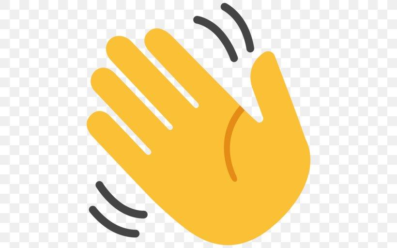 Wave Emoji Clip Art Hand-waving, PNG, 512x512px, Wave ...