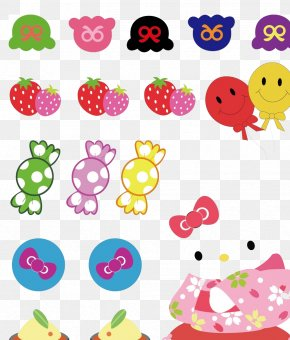 Strawberry Kitten Balloon Material - Hello Kitty Cartoon Clip Art PNG