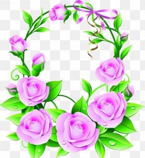 Pink Flowers And Wreaths - Flower Euclidean Vector Clip Art PNG