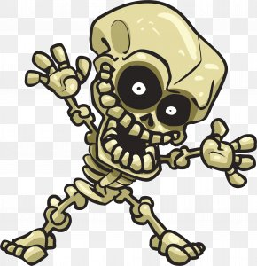 Happy Skull - Cartoon Human Skeleton Clip Art PNG