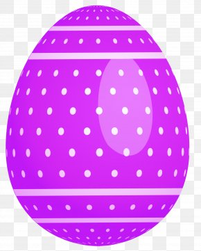 Purple Dotted Easter Egg Clipart - Easter Bunny Easter Egg Clip Art PNG