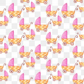 Purple Cartoon Baby Carriage - Baby Transport Infant Clip Art PNG