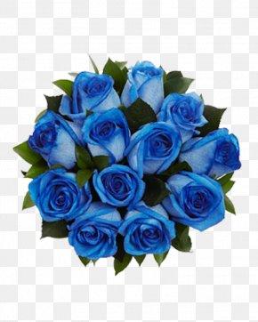 Blue Flower - Blue Rose Flower Bouquet Cut Flowers PNG