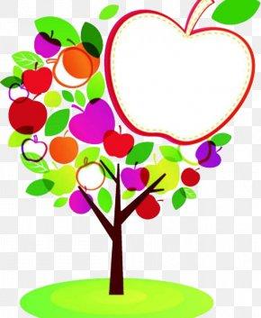 Apple Tree - Apple Cartoon Illustration PNG