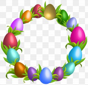 Easter Wreath Transparent Clip Art - Easter Bunny Easter Egg Clip Art PNG