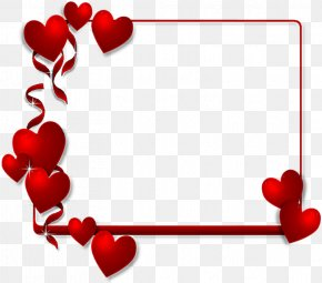 Valentine's Day - Paper Valentine's Day Picture Frames Heart Clip Art PNG