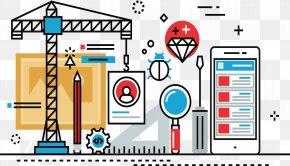 Decorative Vector Survey Construction Sites - Text Graphic Design Font PNG