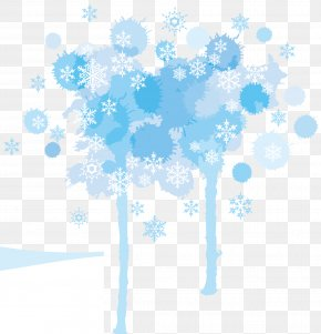Blue Hue Snowflakes Vector - Blue Snowflake Tints And Shades PNG