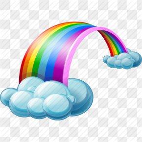 Rainbow Transparent Background - Rain Cloud Weather Icon PNG