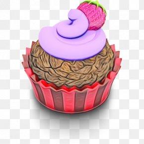 Muffin Food - Cupcake Baking Cup Cake Pink Icing PNG