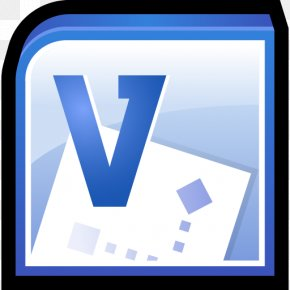 Microsoft Office Visio - Blue Computer Icon Angle Area PNG