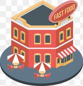 Red Fast-food Restaurant Model - Fast Food Restaurant PNG
