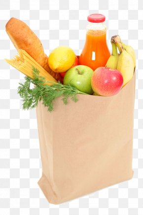 Bag Of Vegetables And Fruits - Organic Food Shopping Bag Fruit Grocery Store PNG
