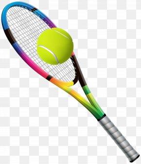 Tennis Racket And Ball Transparent Clip Art Image - Racket Tennis Ball Tennis Ball PNG