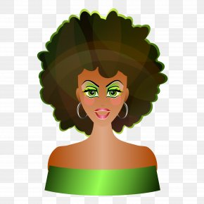 Natural Women Cliparts - Afro-textured Hair Clip Art PNG