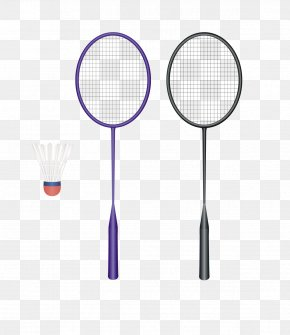 Sports Equipment - Badminton Cartoon Racket PNG