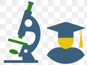 Bachelor Of Cap Material Vector Microscope - Euclidean Vector Icon PNG
